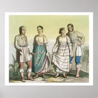 Indiens de Michoacan dans le costume traditionnel, Posters