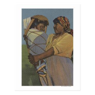 Indiens du nord-ouest - femme indienne carte postale