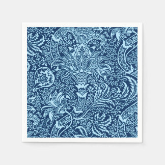 Indigo de William Morris et bleu de ciel indiens Serviettes En Papier
