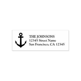 Individu nautique d'ancre de bateau encrant des tampon auto-encreur