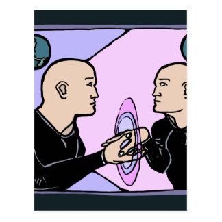 Individu parallèle carte postale