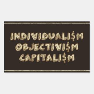 Individualisme, objectivisme, autocollants de