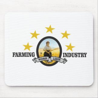 industrie agricole de plan horizontal tapis de souris