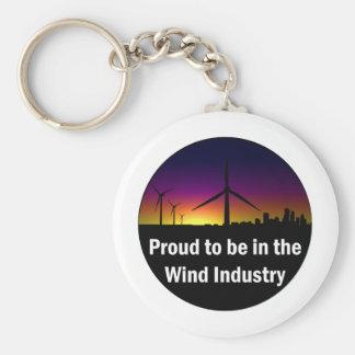 Industrie de vent - porte - clé porte-clé rond