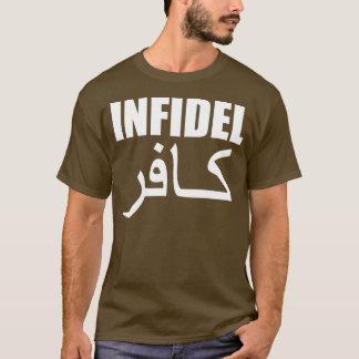 infidèle avec le dos t-shirt