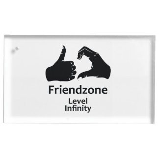 Infini de niveau de Friendzone d'illustration Porte-carte De Table