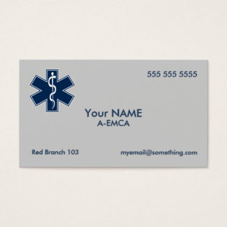 Infirmier EMT SME Cartes De Visite
