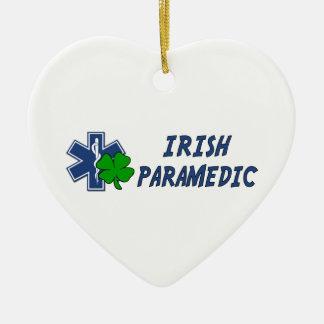 Infirmier irlandais ornement cœur en céramique