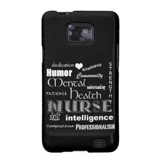 Infirmière-Attributs /Black de santé mentale Coque Pour Galaxy S2 De Samsung