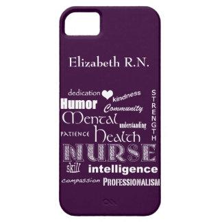 Infirmière-Attributs /Plum de santé mentale iPhone 5 Case