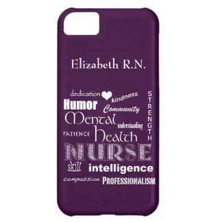 Infirmière-Attributs /Plum de santé mentale Coque iPhone 5C