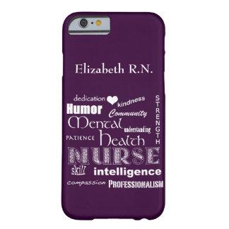 Infirmière-Attributs /Plum de santé mentale Coque Barely There iPhone 6