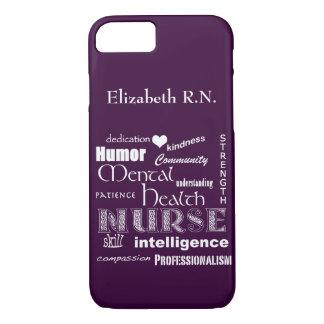 Infirmière-Attributs /Plum de santé mentale Coque iPhone 7
