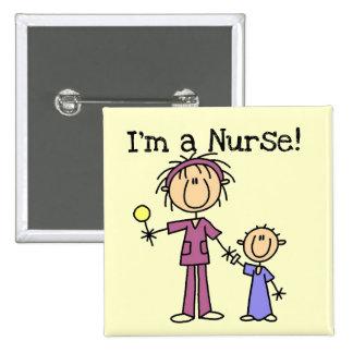 Infirmière avec le T-shirts et les cadeaux d'enfan Badge
