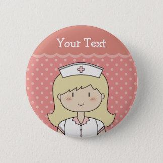 Infirmière avec les cheveux blonds pin's