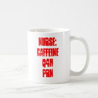 Infirmière : Caféine Q4H PRN Mug