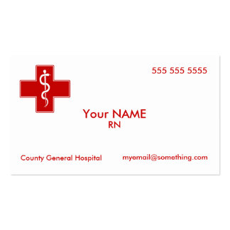Infirmière Carte De Visite Standard