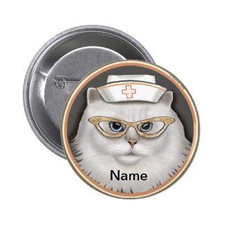 Infirmière de chat persan badge avec épingle
