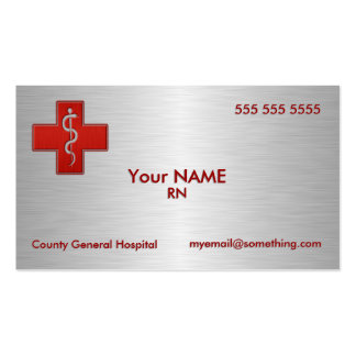 Infirmière de luxe carte de visite standard