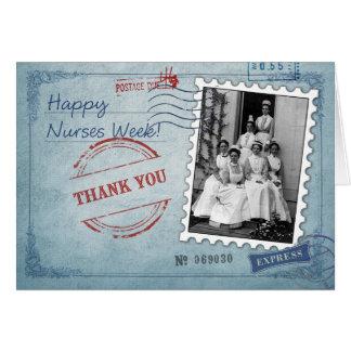 Infirmière de Merci. Cartes de voeux de semaine