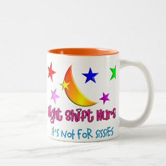 """Infirmière de poste de nuit """"il n'est pas pour des mug bicolore"""