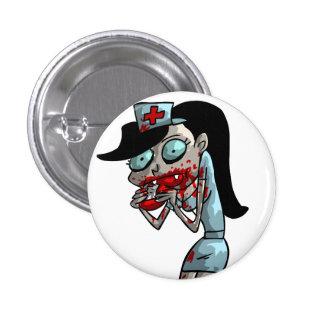 Infirmière de vampire badge rond 2,50 cm