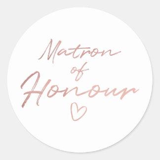 Infirmière d'honneur - autocollant rose