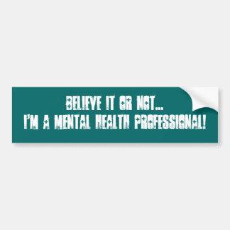 Infirmière/docteur psychiatriques autocollant pour voiture