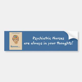 Infirmière-Humour psychiatrique Autocollant Pour Voiture
