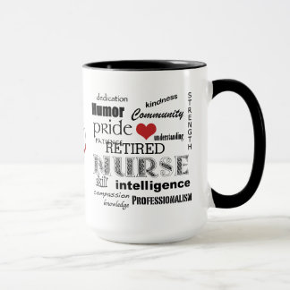 Infirmière Pride-Attributes/RETIRED+Stéthoscope Mugs