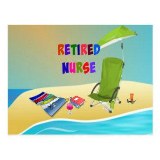 Infirmière retraitée, amusement au soleil cartes postales