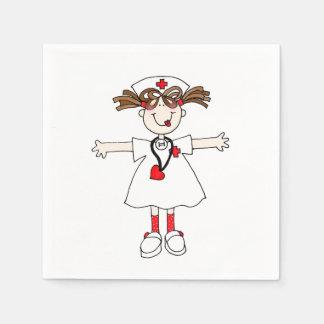 Infirmière Serviettes En Papier