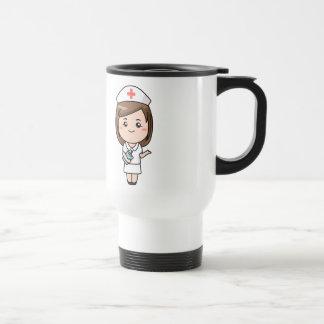 Infirmière traditionnelle mug de voyage