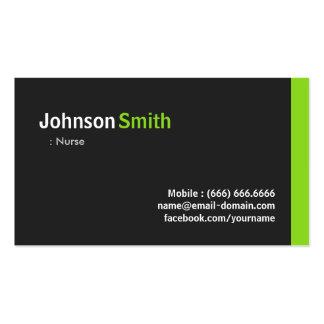 Infirmière - vert minimaliste moderne carte de visite standard