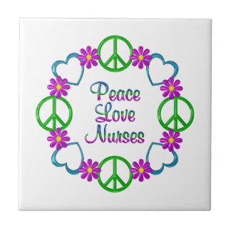 Infirmières d'amour de paix petit carreau carré