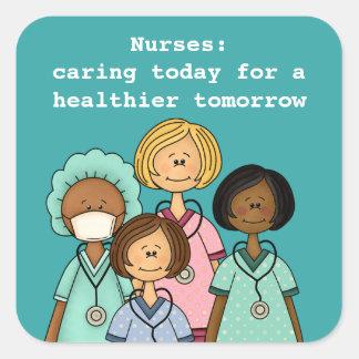Infirmières jour, autocollants de cadeau de
