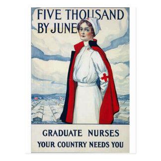 Infirmières requises carte postale