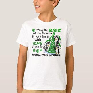 Infirmité motrice cérébrale de pingouins de Noël T-shirt