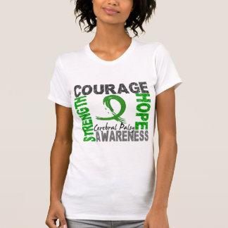Infirmité motrice cérébrale d'espoir de courage de t-shirts