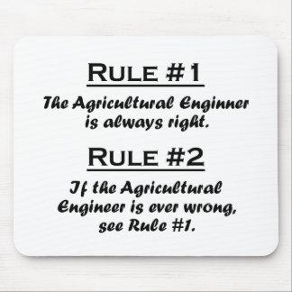Ingénieur agricole de règle tapis de souris
