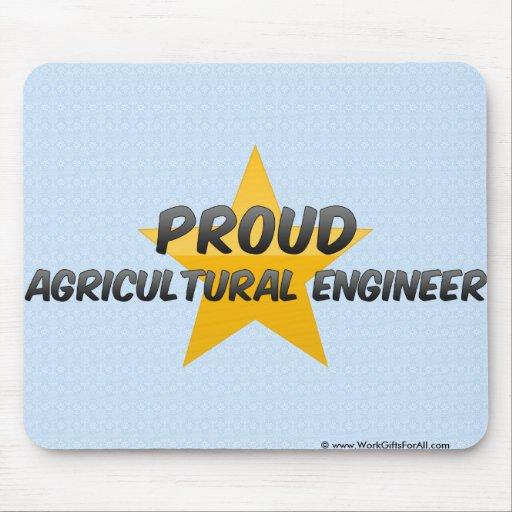Ingénieur agricole fier tapis de souris