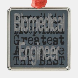 Ingénieur biomédical Extraordinaire Ornement Carré Argenté