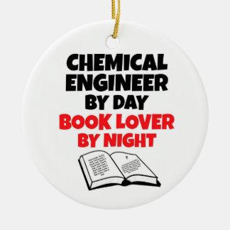 Ingénieur chimiste par l'amoureux des livres de ornement rond en céramique