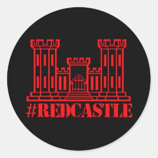 Ingénieur de combat de #Redcastle (grand château) Sticker Rond
