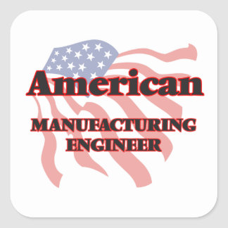 Ingénieur de fabrication américain sticker carré