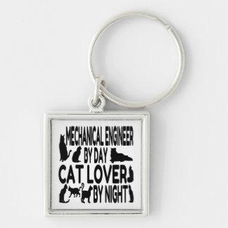 Ingénieur mécanicien d'amoureux des chats porte-clés