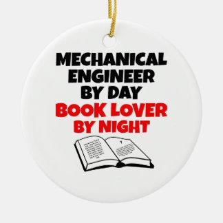 Ingénieur mécanicien d'amoureux des livres ornement rond en céramique