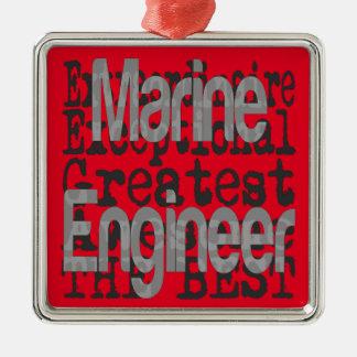 Ingénieur naval Extraordinaire Ornement Carré Argenté