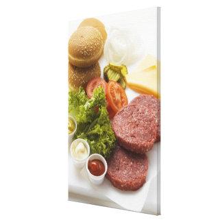 Ingrédients pour des cheeseburgers toiles
