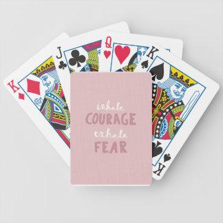 Inhalez le courage exhalent la crainte jeu de cartes